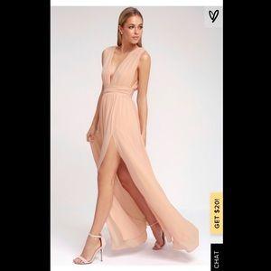 Lulus Heavenly Hues Blush Maxi Dress